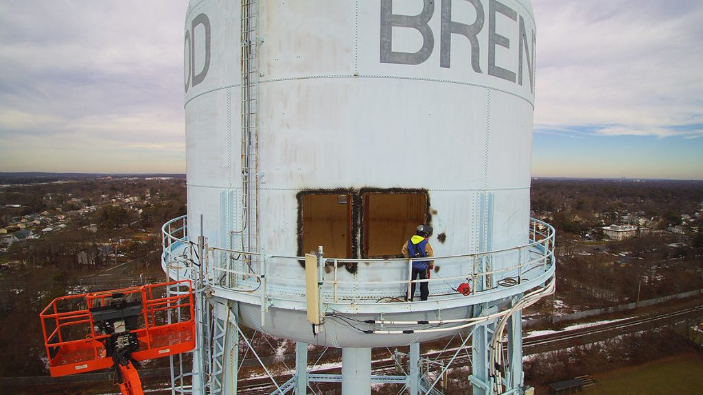 Water Tank Demolition : Brentwood water tank demolition gramercy group inc